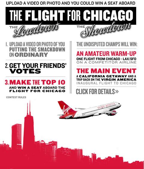 Konkurs na Facebooku - Virgin America