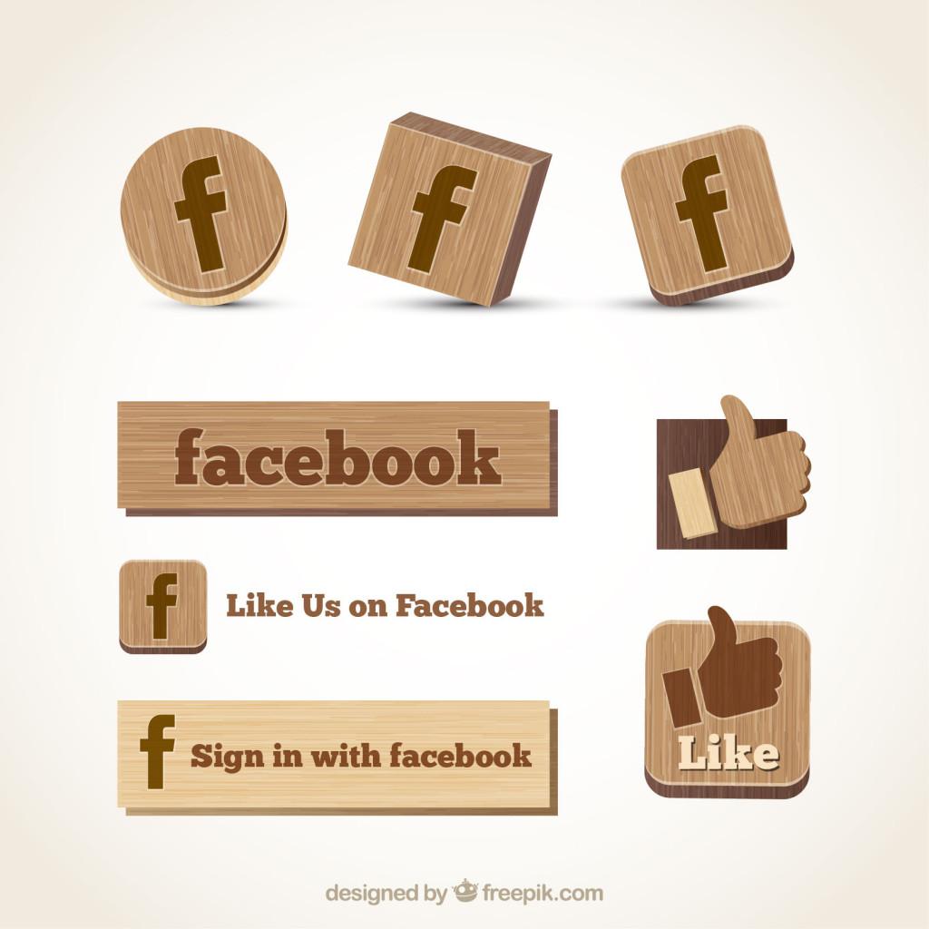 wooden facebook