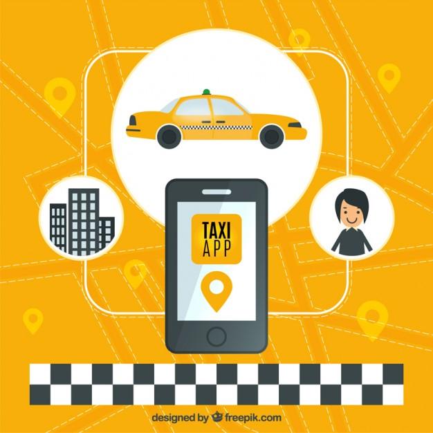 Żołte-tło-stosowania-taxi_23-2147564024